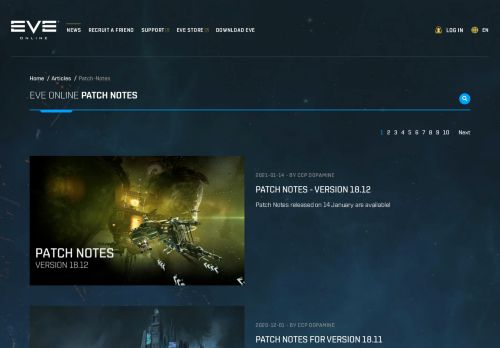 EVE Online Patch Notes
